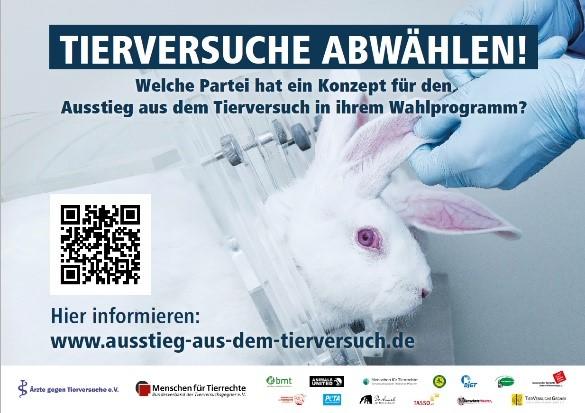 Tierversuche abwählen - Hase